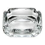 "Libbey 5143 3.75"" Clear Square Glass Ash Tray"