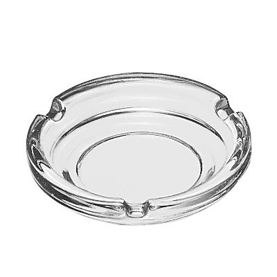 "Libbey 5156 4.25"" Round Clear Glass Ash Tray"