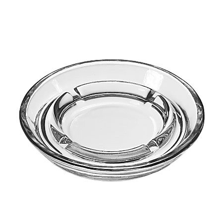 "Libbey 5164 5"" Round Clear Glass Safety Ash Tray"
