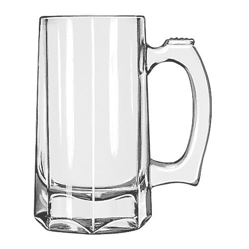 Libbey 5206 12-oz Glass Beer Mug / Stein