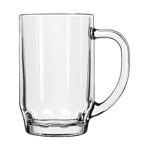 Libbey 5303 19.5-oz Glass Thumbprint Stein