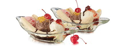 Libbey Glass 5317S6 9-in Glass Banana Split Relish Dish