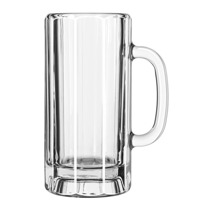 Libbey 5327 22-oz Glass Paneled Mug