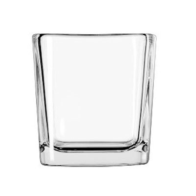 Libbey 5474 7.5-oz Clear Glass Cube Voltive Candle Holder