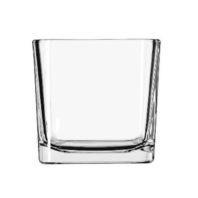 Libbey 5475 14-oz Clear Glass Cube Voltive Candle Holder