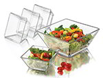 Libbey 55701 Tempo Salad Set w/ 9-in Serving & 4-Salad Bowls