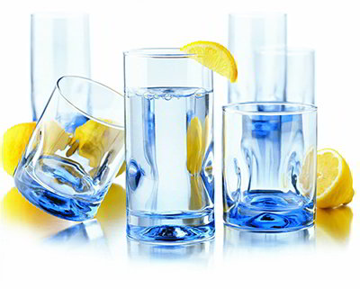 Libbey Glass 55756F Impressions Misty Blue Glassware Set w/ (8) 16.7-oz Coolers & (8) 12-oz Tumblers