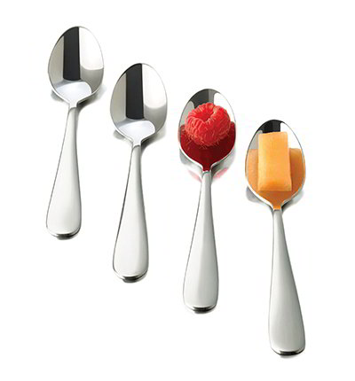 Libbey Glass 56121 12-Piece Just Tasting Appetizer Spoon Set