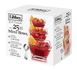 Libbey 56161 Just Desserts Mini Bowl Set w/ 12-Bowls & 12-Spoons, Recipe Card