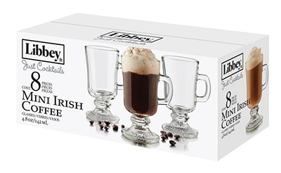 Libbey 56165 Just Cocktails Irish Coffee Set w/ 8-Mugs