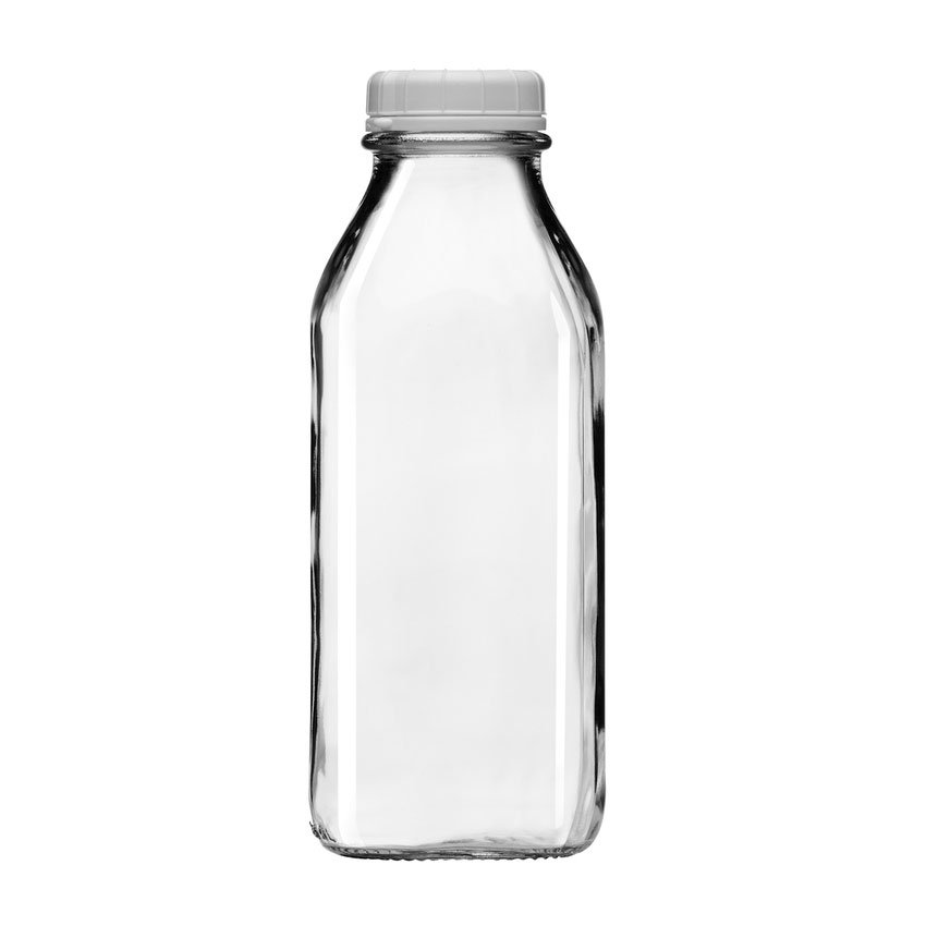 Libbey 56634 33.75-oz Milk Bottle w/ Plastic Lid
