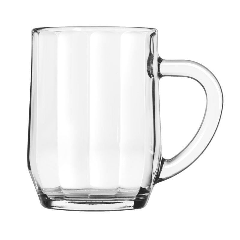 Libbey 5725 10-oz All Purpose Glass Optic Mug