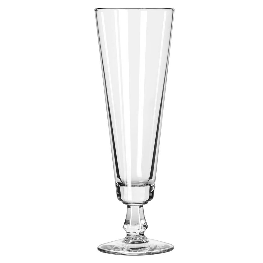 Libbey 6425 10-oz Footed Pilsner Glass - Safedge Rim Guarantee
