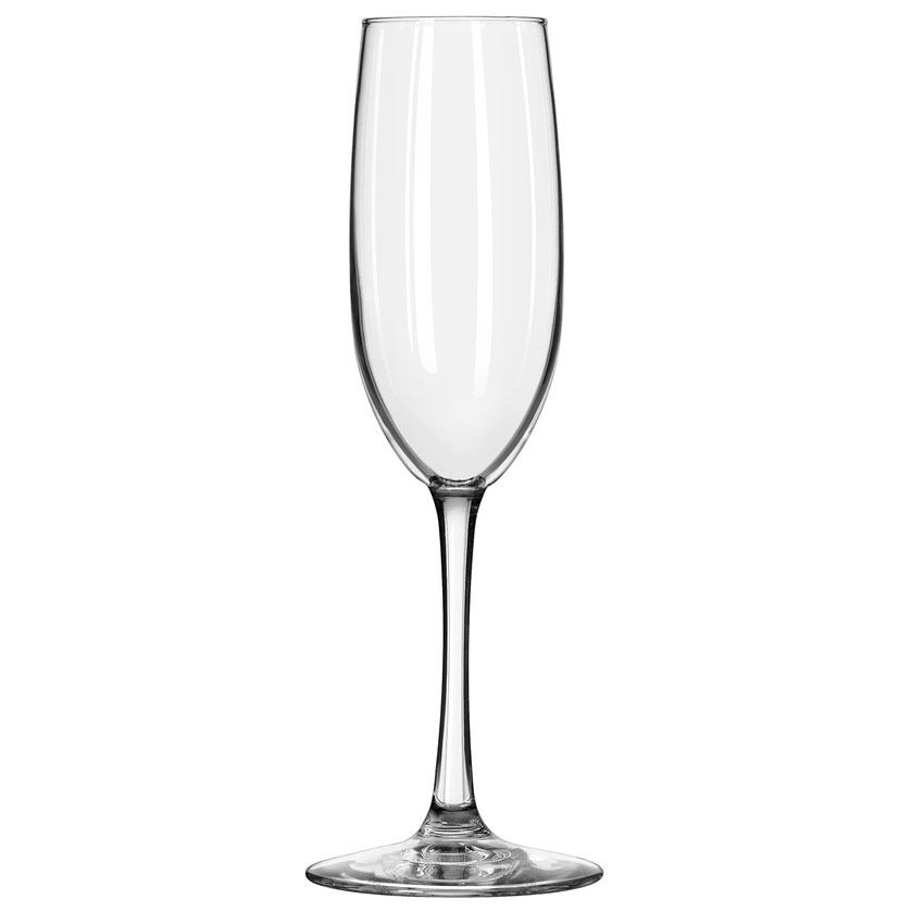 Libbey 7500/69292 8-oz Vina Fizzazz Flute Glass - Safedge Rim, Nucleation Etching