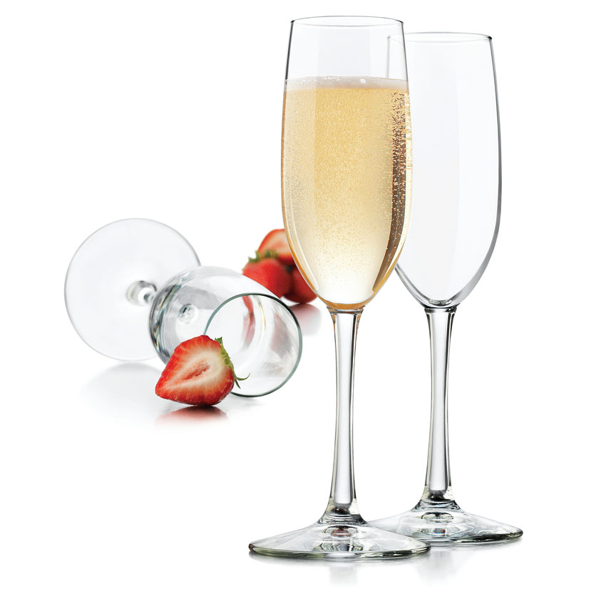 Libbey 7500 8-oz Vina Flute Glass - Safedge Rim and Foot Guarantee