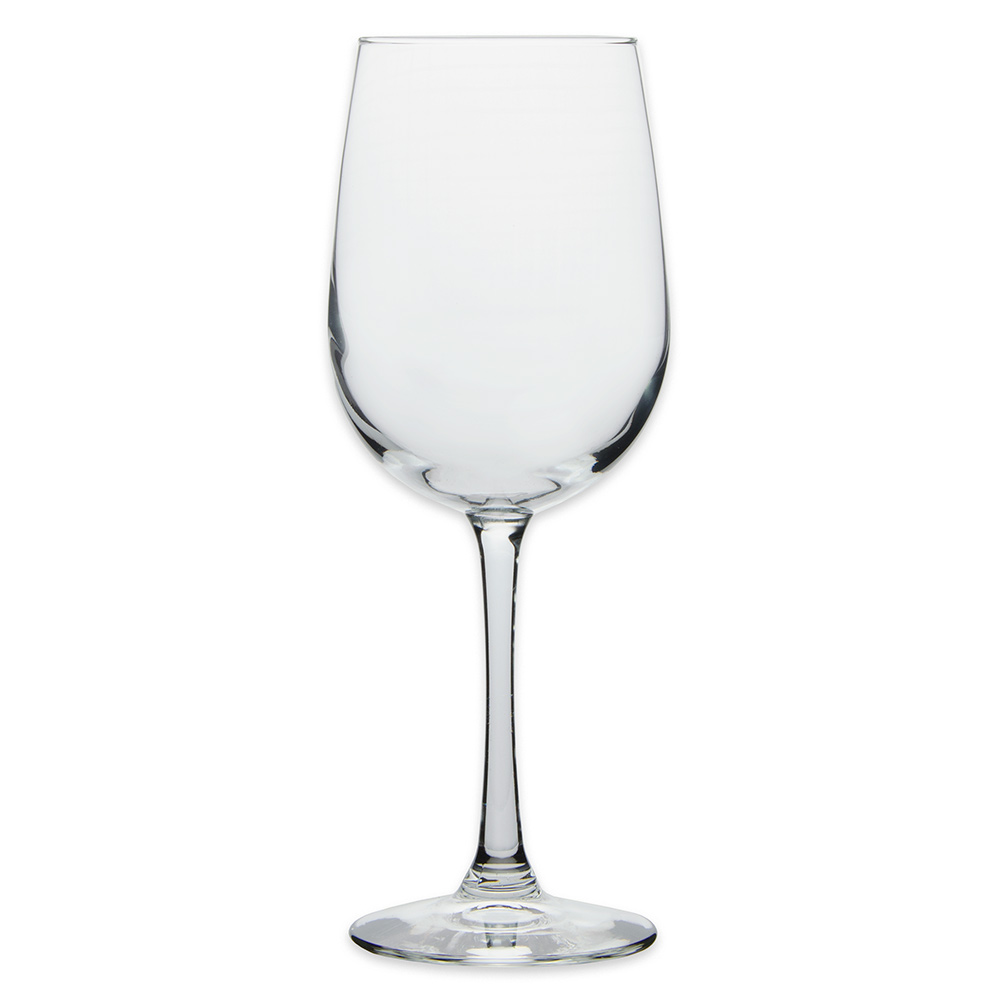Libbey 7510 16 oz vina tall wine glass safedge rim for Thin stem wine glasses