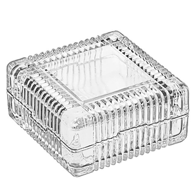 Libbey 75186 5-oz Square Glass Jewelry Box
