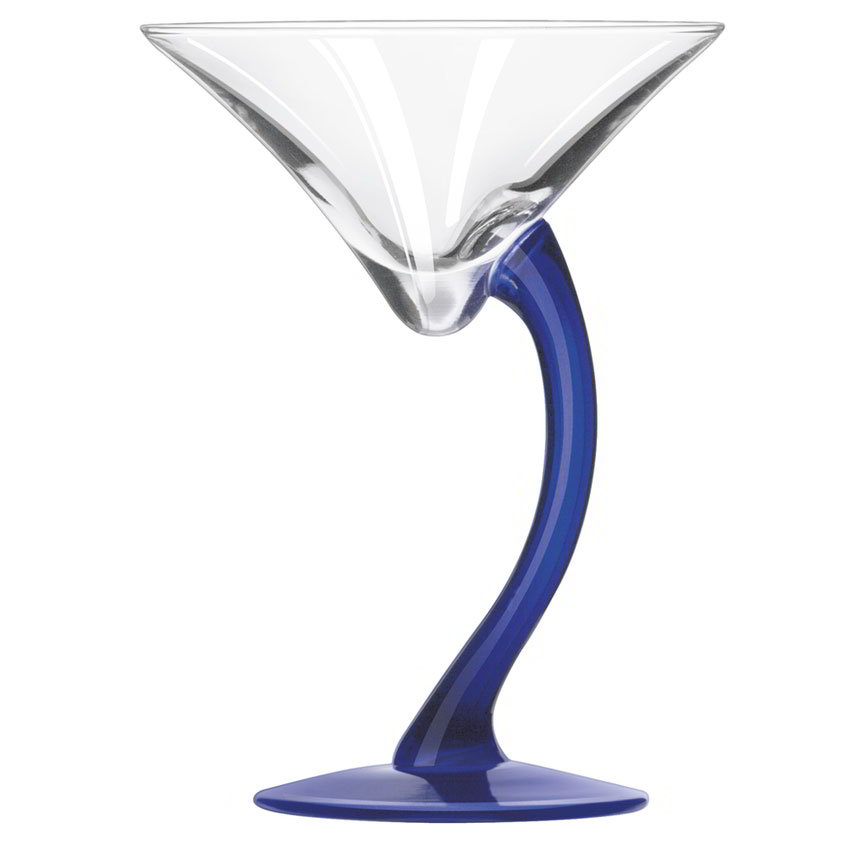 Libbey 7700BS 6.75-oz Bravura Cobalt Stem Martini Glass