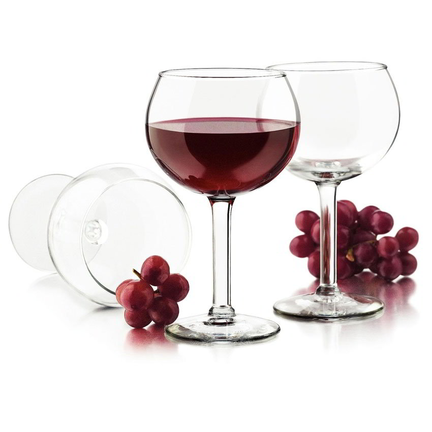 Libbey Glass 80457 Preston Red Wine Set w/ 4-Stemmed Glasses
