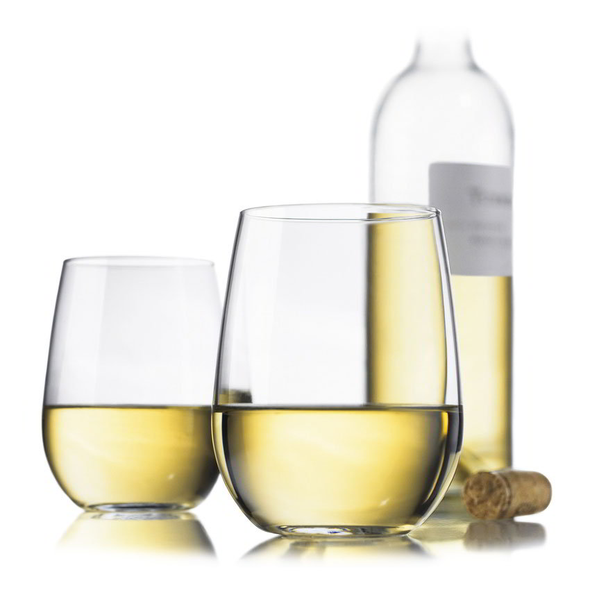 Libbey 89694 Vina White Wine Set w/ 4-Stemless Glasses