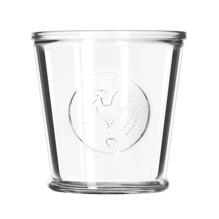 Libbey Glass 92181 12-oz FarmHouse Glassware, Rooster Design, Perfect for Tabletop Presentation