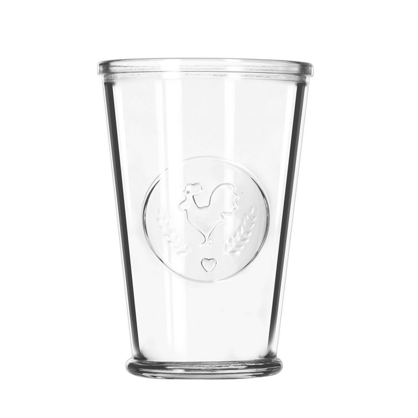 Libbey 92182 9-oz FarmHouse Juice Glassware, Rooster Design, Perfect for Tabletop Presentation