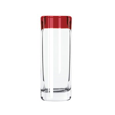 Libbey 92301R 3-oz Aruba Shooter Glass w/ Red Rim