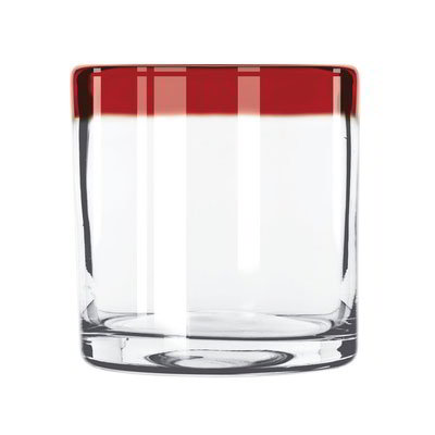 Libbey 92302R 12-oz Aruba Rocks Glass w/ Red Rim