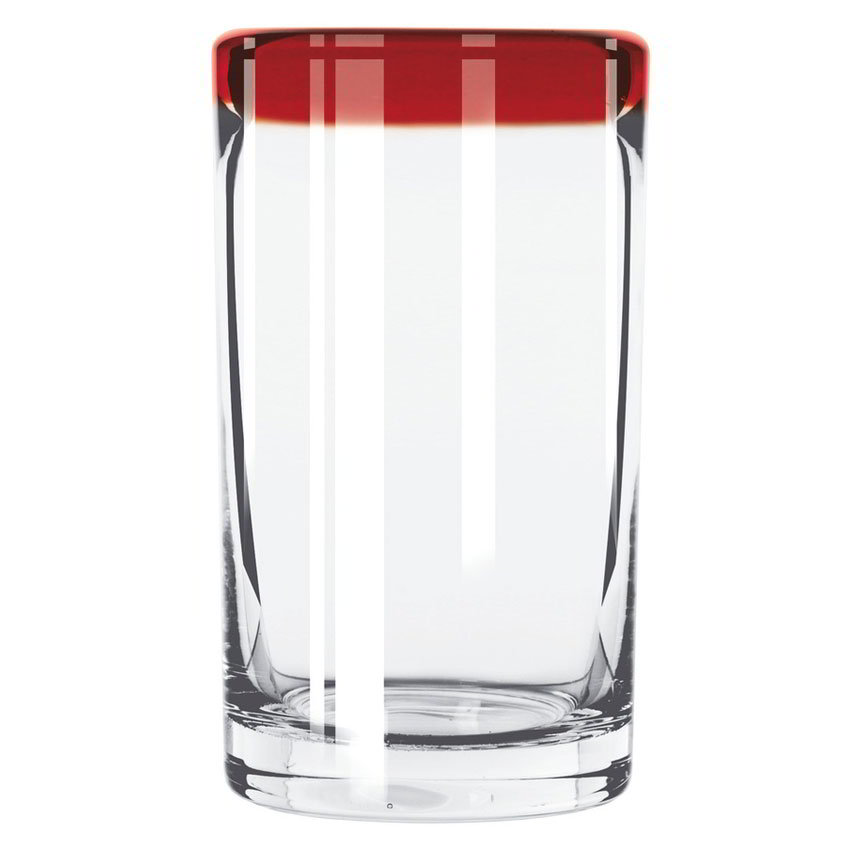 Libbey 92303R 16-oz Aruba Cooler Glass w/ Red Rim
