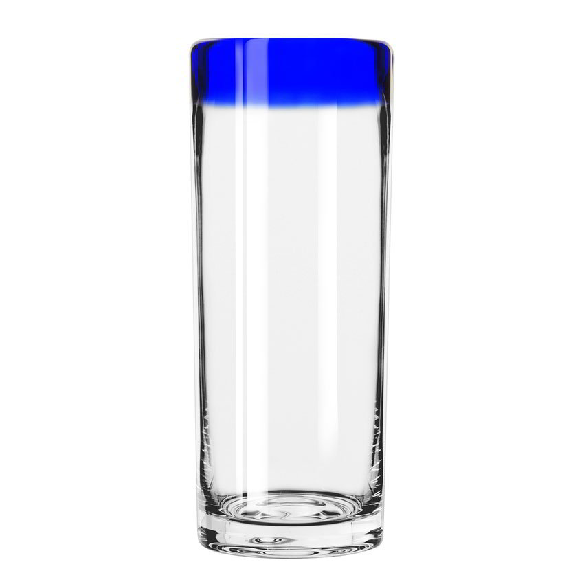 Libbey 92316 16-oz Aruba Beer Glass w/ Cobalt Blue Rim