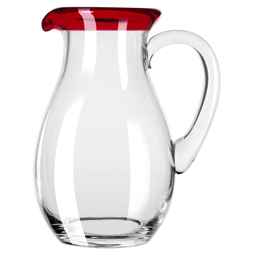 Libbey 92317R 56-oz Aruba Glass Pitcher w/ Red Rim
