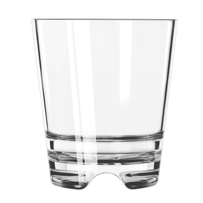 Libbey 92404 12-oz Infinium Double Old Fashioned Glass, Plastic