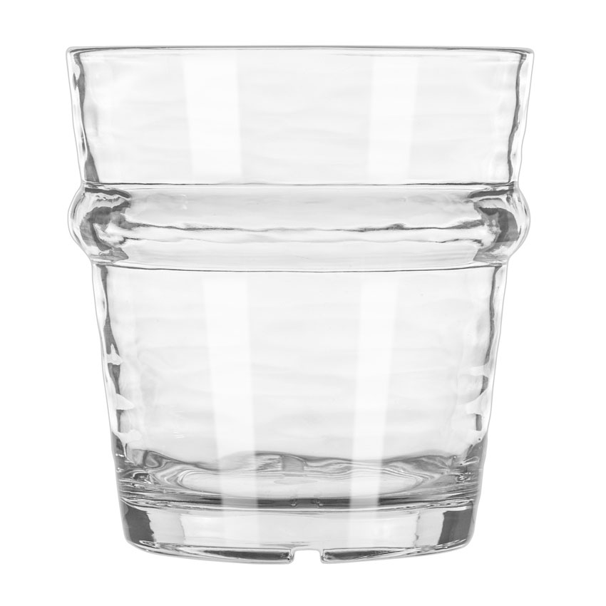 Libbey 92430 12-oz Double Old Fashioned Glass, Wake™, Clear Plastic