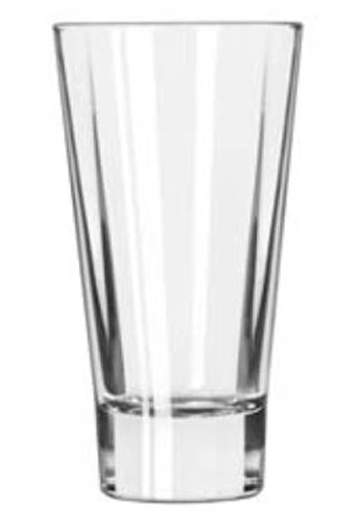 Libbey Glass 15826 16-oz DuraTuff Quadra V Heavy Sham Flare Cooler Glass, Square Shape