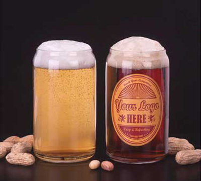 Libbey Glass 209 16-oz Beer Can Glass - Safedge Rim