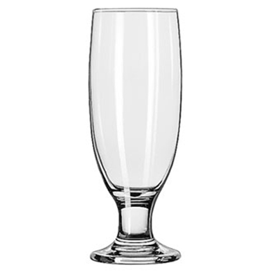 Libbey Glass 3725 12-oz Embassy Beer Pilsner Glass - Safedge Rim & Foot