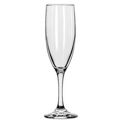 Libbey Glass 3795 6-oz Embassy Flute Glass - Safedge Rim & Foot Guarantee