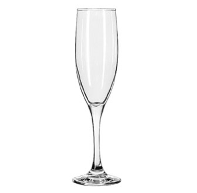 Libbey Glass 3796 6-oz Embassy Royale Tall Flute Glass - Safedge Rim & Foot