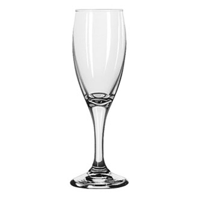 Libbey 3996 5.75-oz Teardrop Flute Glass - Safedge Rim & Foot Guarantee
