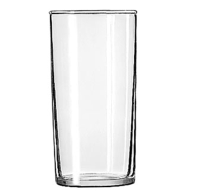 Libbey Glass 44 Straight Sided Hi-Ball Glass w/ Safedge Rim Guarantee, 8-oz