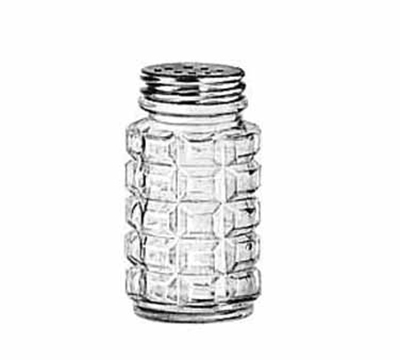 Libbey Glass 5045 2-oz Glass Salt Pepper Shaker - Aluminum Top