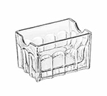 Libbey Glass 5258 3.5-in Gibraltar Glass Sugar Packet Holder