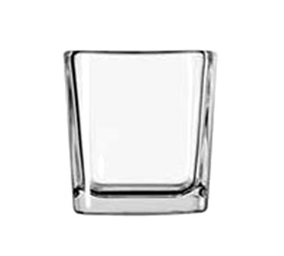 Libbey Glass 5474 7.5-oz Clear Glass Cube Voltive Candle Holder
