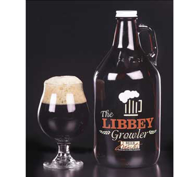 Libbey Glass 70217 64-oz Amber Growler w/ Lid