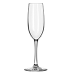 Libbey Glass 7500/69292 8-oz Vina Fizzazz Flute Glass - Safedge Rim, Nucleation Etching