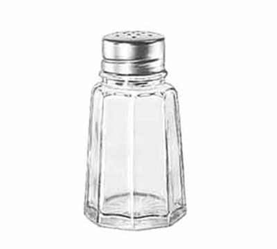 Libbey Glass 75351 2.88-oz Gibraltar Glass Salt Pepper Shaker - Stainless Steel Top