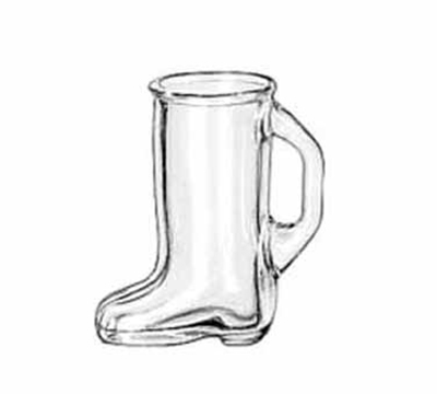 Libbey Glass 97038 1.5-oz Bolla Grande Collection Boot-Shaped Shot Glass