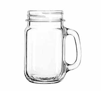 Libbey Glass 97084 16.5-oz County Fair Plain Panel Drinking Jar