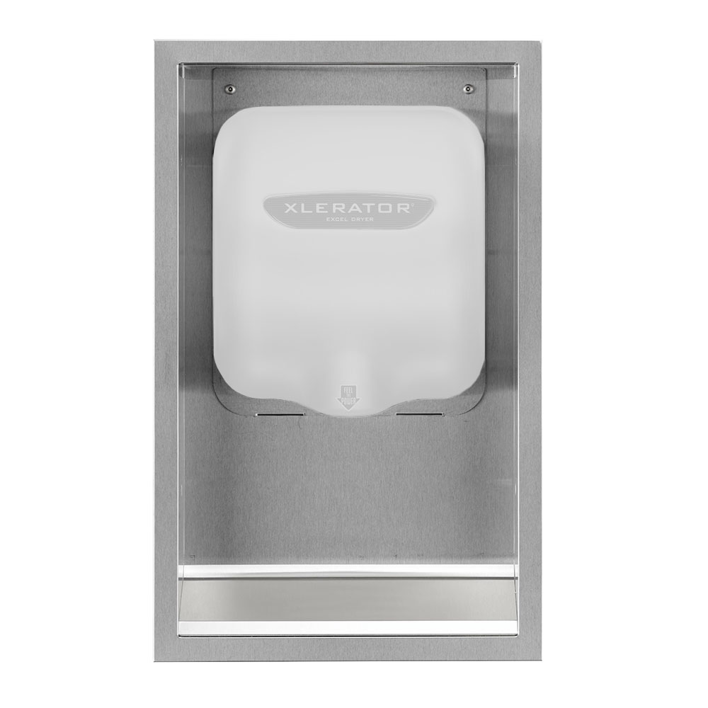 Excel Dryer 40502 Recess Kit Only for Xlerator Hand Dryers, Brushed Stainless