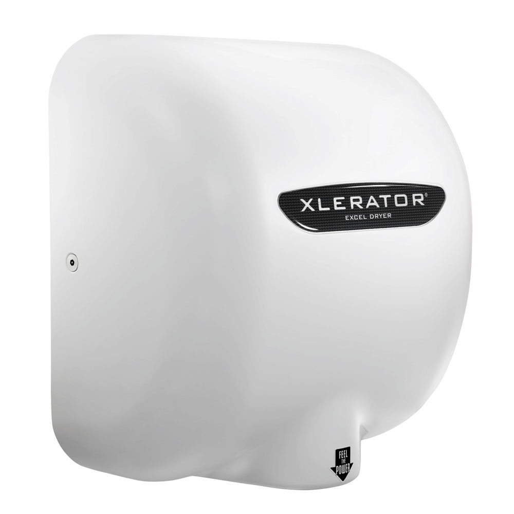 Excel Dryer XL-BW Automatic Hand Dryer w/ 8-sec Dry Time - White, 110-120v